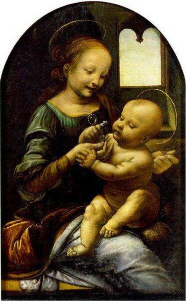 «Мадонна с цветком» или «Мадонна Бенуа» Леонардо да Винчи