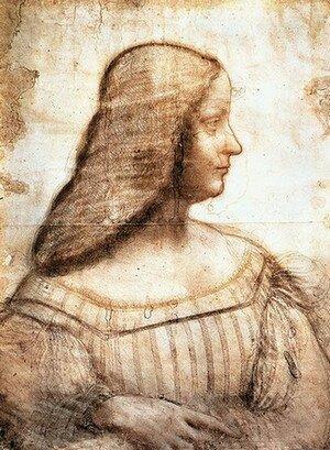 Леонардо да Винчи. Эскиз к портрету Изабеллы д'Эсте