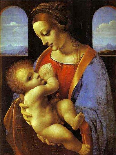 Леонардо да Винчи. Мадонна Литта.