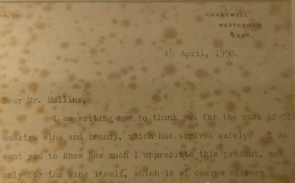 Мадера. Письмо Черчилля