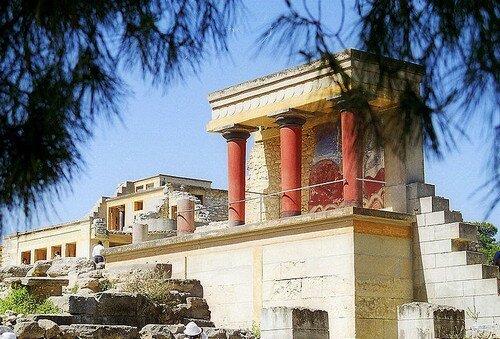 Остров Крит Греция. Кносский дворец
