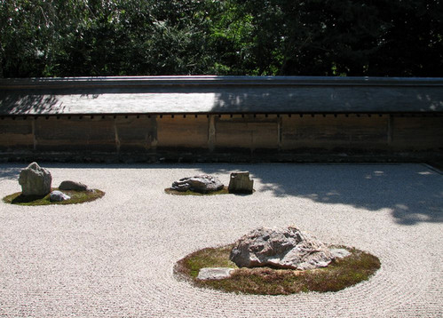 Сад камней в храме Рёан-дзи