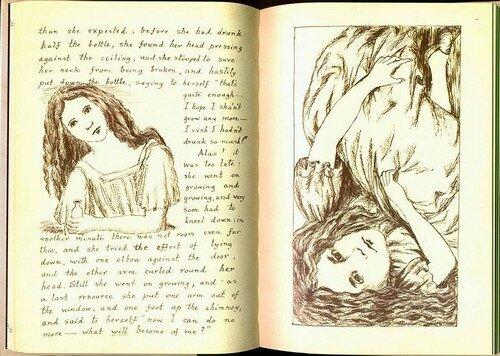 """Льюис Кэрролл """"Алиса в стране чудес"""" рукопись"""