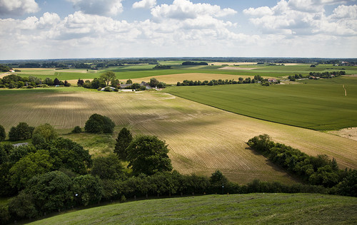 Вид на поле битвы с Холма Льва в Ватерлоо, Бельгия