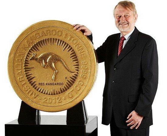 Самая большая золотая монета в мире изготовлена в Австралии