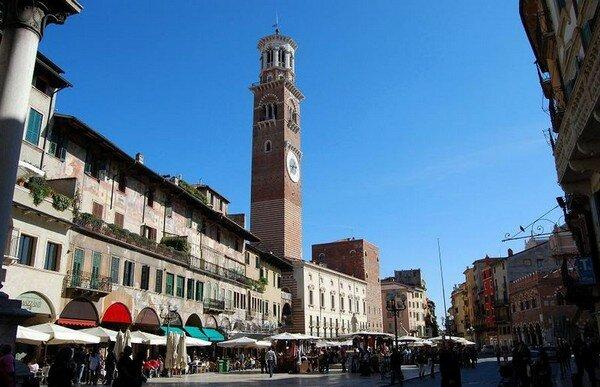 Башня Ламберти, Верона Италия