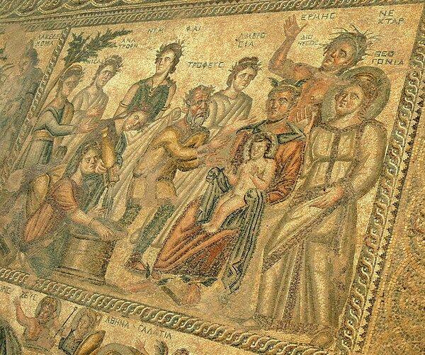 Мозаики Дома Айона, Пафос