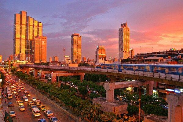 Бангкок на закате, Таиланд