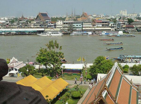 Река Чаупхрая в Бангкоке, Таиланд